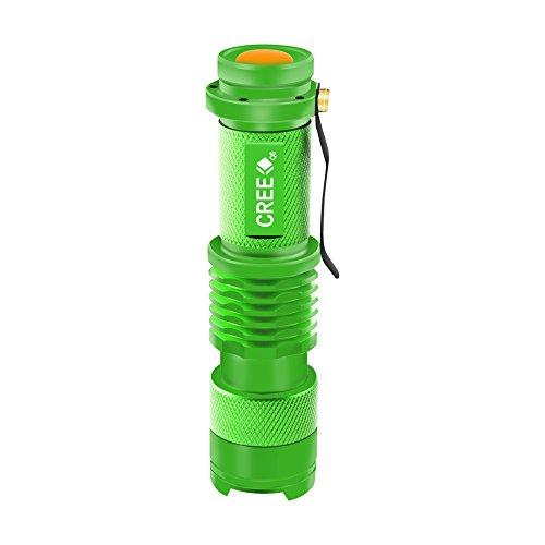 Enjoydeal Green Portable Mini CREE Q5 LED Zoomable 1200 Lumens Flashlight Torch Light