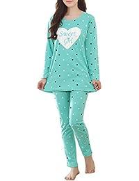 Girls' Comfy Sleepwear Hearts Shape Pajama Set Sweet Dream Leisure Nighty