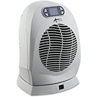 Alera ALEHEFF14G Digital Oscillating Fan-Forced Heater, 9 x 8 x 12-1/4, Cool Gray