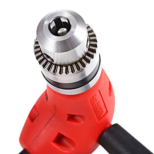 YWKOW 90 Degree Electric Power Cordless Drill Attachment Bend Extension with Keyless Chuck Clamping Range 1.0mm-10mm Angle Adaptor 3//8 Right Angle Drill