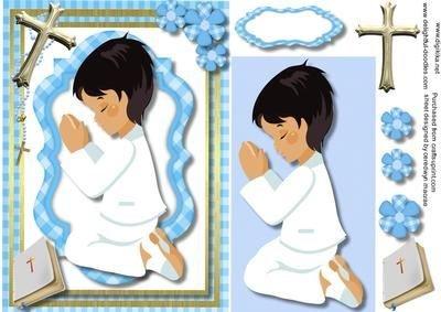 Comunión, bautizo, baptisum, tarjeta de felicitación para un ...