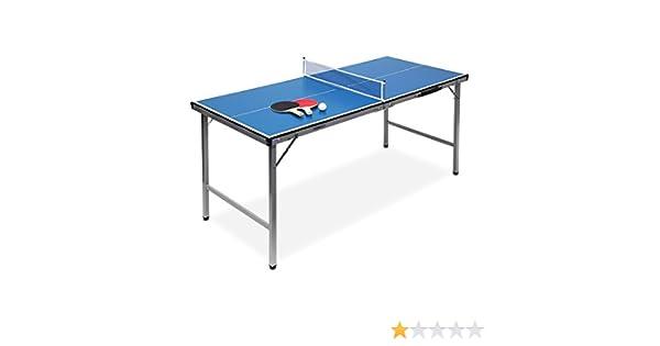 Relaxdays Mesa Ping Pong Exterior Plegable con Red, Pelotas y ...