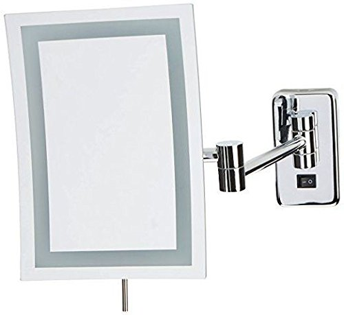 Jerdon JRT710CLD Wall Mount Rectangular Direct Wire Makeup Mirror, Chrome Finish, 6.5'' x 9'' by Jerdon