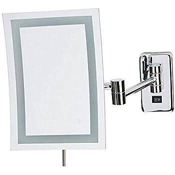 Amazon Com Gurun Wall Mounted Square Magnifying Mirror