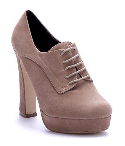 Schuhtempel24 Damen Schuhe Ankle Boots Stiefel Stiefeletten 13 cm High Heels Beige