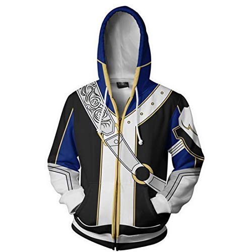 COSTHAT Fire Emblem Heroes Young Lion Roy Zip Up Hoodie Hooded Coat Jacket (Emblem Hoodie Fire)