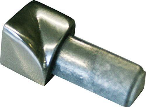 Vollmaterial PREMIUM FUCHS Innenecke kein Abbl/ättern m/öglich H: 6mm Viertelkreisprofil Edelstahl V2A Gl/änzend