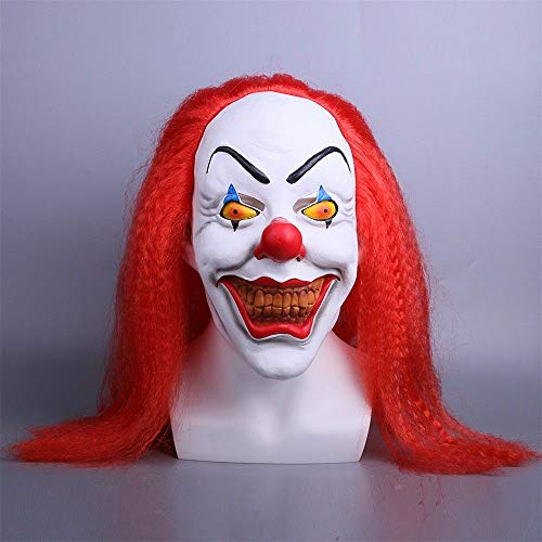 PAPWELL Pennywise Mask Hot Toys IT 2017 Ultimate New Scary Cosplay Costume Face Masks Horror Exclusive Clown Toy Halloween Christmas Collectible Collectable Gifts Collectibles Gift for Adults Kids -