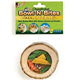 Ware Manufacturing Natural Wood Chewaliscious Bowl-N-Bites Small Pet Chew Treat, Small