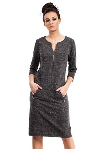 Reißverschlüssen Kleid Clea Reißverschlüssen mit Graphit Reißverschlüssen Graphit Kleid mit Clea mit Kleid Clea wITxqTHS