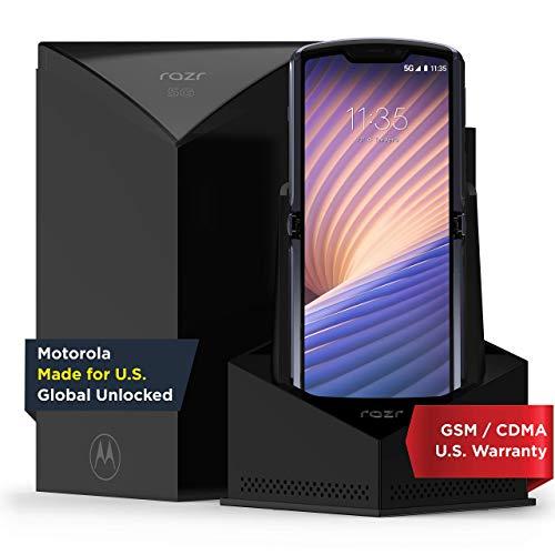 Motorola Razr 5G | Unlocked | Made for US by Motorola | 8/256GB | 48MP Camera | 2020 | Polished Graphite (Renewed)