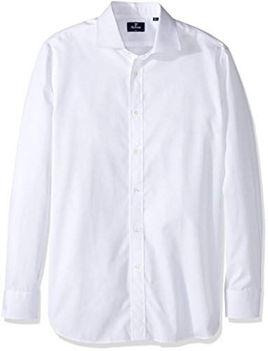 Façonnable Men's Size Faconnable Tall Club Fit Dress Shirt Long Length, White, 38