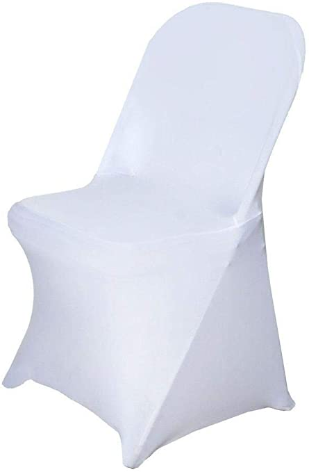 Efavormart 20 PCS Stretchy Spandex Fitted Folding Chair Cover Dinning Event Slipcover for Wedding Party Banquet Catering - White