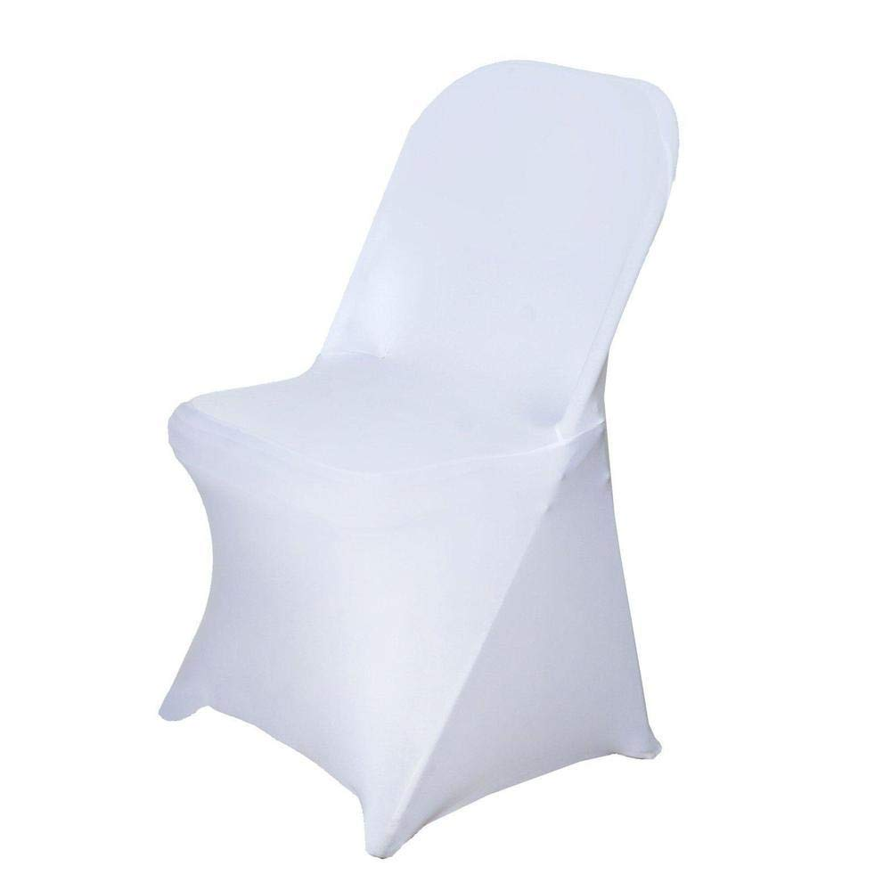 Efavormart 100 PCS Stretchy Spandex Fitted Folding Chair Cover Dinning Event Slipcover for Wedding Party Banquet Catering - White