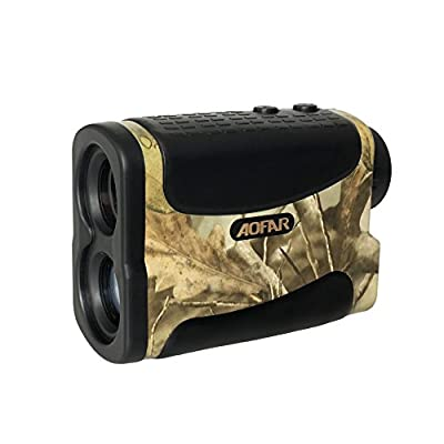 AOFAR Range Finder 1000 Yards Waterproof for Hunting Golf, 6X 25mm Measurer Laser Rangefinder with Speed Scan and Fog, Free Battery from AOFAR