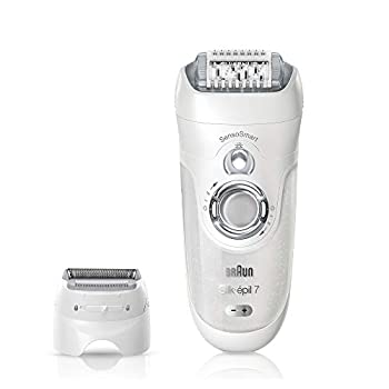 Image of Braun Epilator for Women, Silk-epil 7 7-880 Hair Removal for Women, Bikini Trimmer, Wet & Dry, Cordless and 7 extras Health and Household