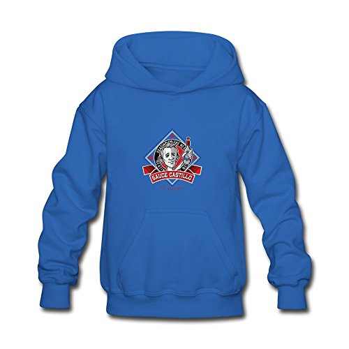 ATHLETE ORIGINALS Little Boys' Hoodie by Nik Stauskas Check The Label Red Hot Sauce Castillo in Light & Oxford & Red & Red & White (Digital Print) S Royal Blue