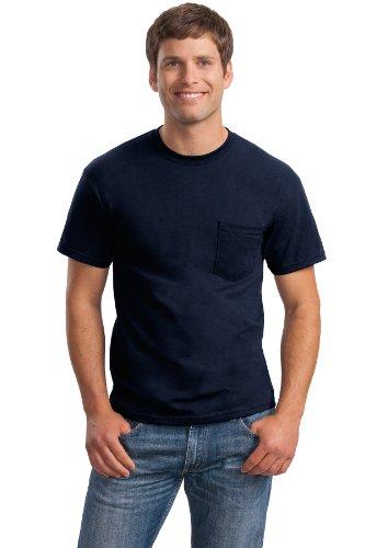/50 Ultra Blend Pocket Tee Shirt, 2XL, NAVY (50 Ultra Blend Pocket)