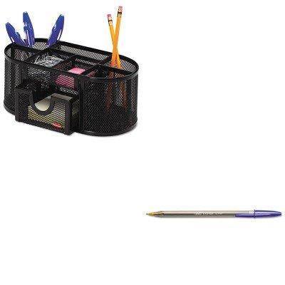 KITBICMSB11BEROL17466 BIC Cristal Kugelschreiber-Set (BICMSB11BE) und Rolodex Mesh Stiftebecher Organizer (ROL17466) B00MOO5GKY | Große Klassifizierung