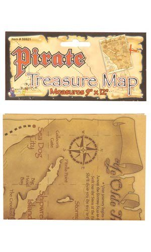 Forum Novelties Pirate Treasure Map Costume Accessory One Size ()