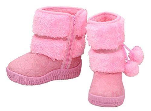 ZPY Rosa Mädchen Halbstiefe Boots LOSORN � Warm Kinderschuhe Stiefeletten gefütterte Schneestiefel wffvUqBWX