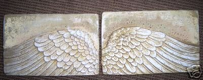Amazon.com: ANGEL WINGS WALL ART SCULPTURE PLAQUE HOME DECOR SET Hand Made  in USA by www.NEO-MFG.com: Home u0026 Kitchen