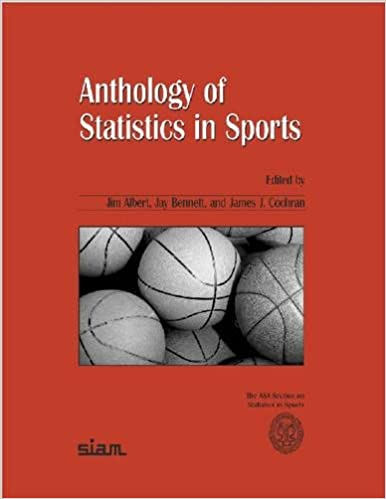 Anthology Of Statistics In Sports ASA SIAM Series On And Applied Probability Jim Albert Jay Bennett James J Cochran 9780898715873