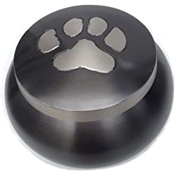 Odyssey Series Single Paw Slate Cremation Urns for Pets - Handmade Pet Memorial Slate Color - Medium
