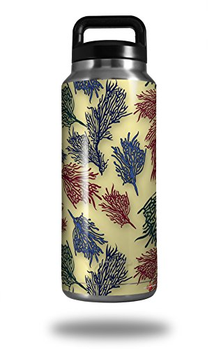 WraptorSkinz Skin Decal Wrap for Yeti Rambler Bottle 36oz Floating Coral Yellow Sunshine (YETI NOT INCLUDED)