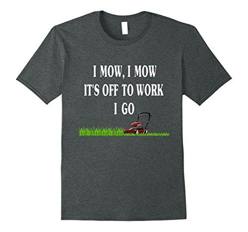 Mens Lawn Mowing T Shirt Lawn Mower Shirt Gardener T Shirt Large Dark (Mowing The Lawn)