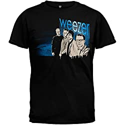 Weezer - Mens Wall Tour T-shirt Large Black