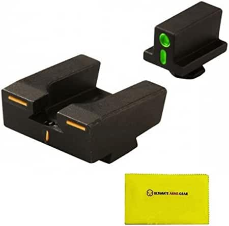 Meprolight GLOCK R4E Set of Front and Rear Sights + Ultimate Arms Gear Gun Cleaning Cloth