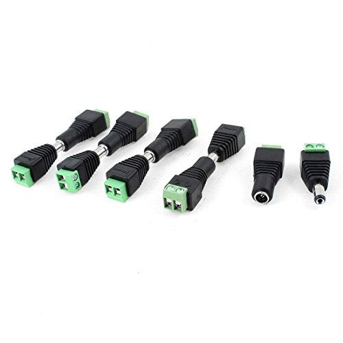 (BIN BON - IMC Wholesale 5 X 10 Pcs CCTV Cameras 2.1mm x 5.5mm Female Male DC Power Plug Adapter)