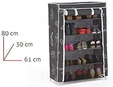 5 ripiani Scarpiera Kit Closet 4090042005 in stoffa