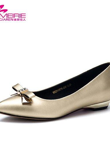 PDX/ Damenschuhe - Ballerinas - Lässig - Kunstleder - Niedriger Absatz - Komfort / Spitzschuh / Geschlossene Zehe - Silber / Gold , golden-us6 / eu36 / uk4 / cn36 , golden-us6 / eu36 / uk4 / cn36