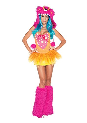 Sexy Monster Costume - Carnival Fancy Halloween One Eyed Furry Hood Monster Cosplay Costumes -