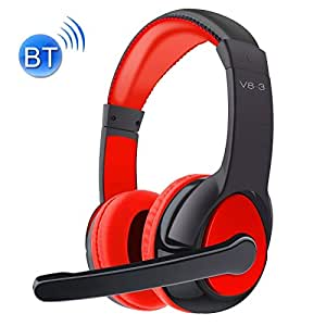 Generic OVLENG V8-3 Bluetooth Stereo Headset Headphones with Mic, Support FM & TF Card, For iPad, iPhone, Galaxy, Huawei, Xiaomi, LG, HTC and Other Smart Phones(Red)