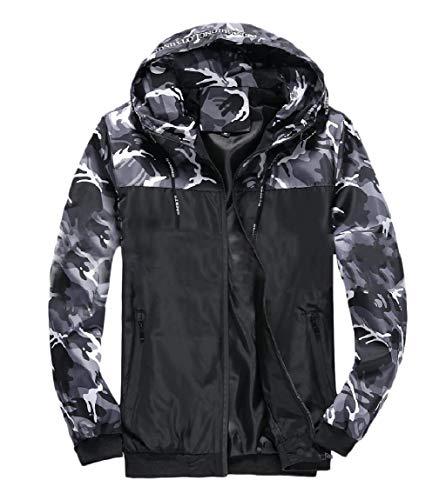 Assorted MogogoMen Colors Grey Camouflage Jacket Zip Outwear Simple Full Hoodie FaSxq5gaw