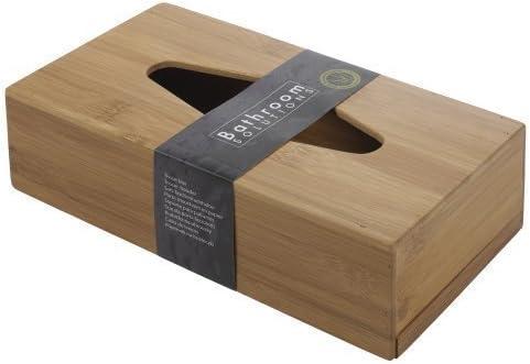 Bathroom Solutions Caja de pañuelos de bambú: Amazon.es: Hogar