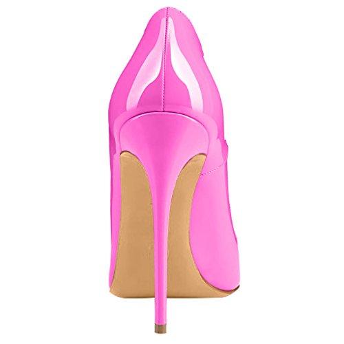 Calaier Vaaleanpunainen Teräväkärkiset on B 12cm Slip Cahen Toe Naiset Tikari Avokkaat 4Zgqr4