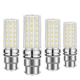 BOGAO B22 LED Corn Bulbs, 12W Equivalent to 100W Incandescent Bulbs,B22 Bayonet Cap LED Light Bulbs,1200 Lumens, White,Non-dimmable(6000K,4pcs)