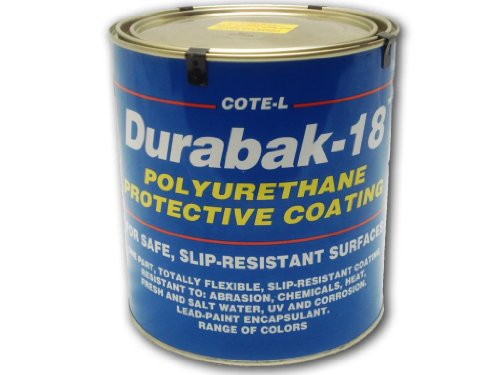 Durabak 18 (For Outdoors), TEXTURED version - Non Slip Coating, Bedliner, Deck Paint for ALL Boats - Many colors to choose from! - CREAM - GALLON by Durabak Depot