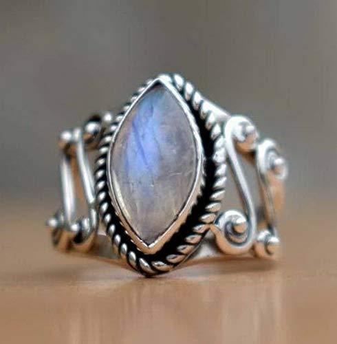 Tomikko 925 Silver Ring Men Women Moon Stone Fire Opal Wedding Proposal Party Size 6-10   Model RNG - 13702   7