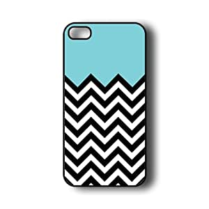 iPhone 5 Case ThinShell Case Protective iPhone 5 Case Aqua plus chevron by ruishername