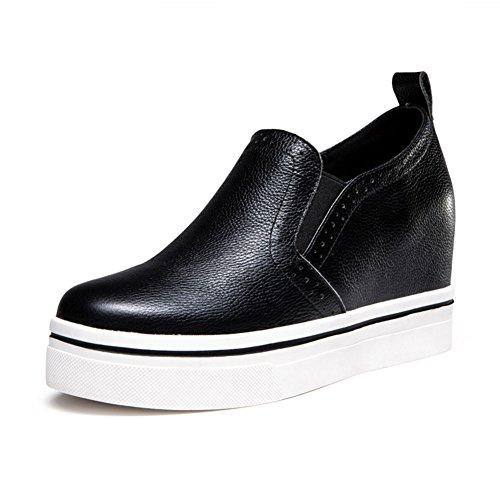 Le Fu, zapatos de moda/Zapatos de plataforma con suela gruesa/Cuñas de alta zapatos casuales A