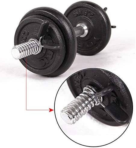 NOLOGO KUQIQI 2 Pieces 30mm Barbell Gym Weight Bar Dumbbell Lock Clamp Spring Collar Clips indoor use trainning fitness,Fitness Equipment