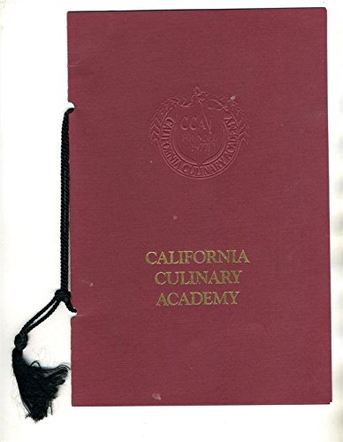 California Culinary Academy Dinner Menu 1986 Prince Alain de Polignac
