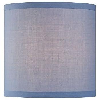 Uno Drum Lamp Shade In Blue Linen Lampshades Amazon Com