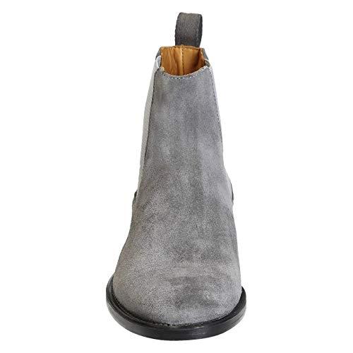Stivaletti 4103grey Uomo Grigio Camoscio Shoes Leonardo 8Bqwn1Zxx