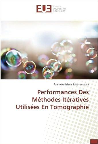 performances des methodes iteratives utilisees en tomographie